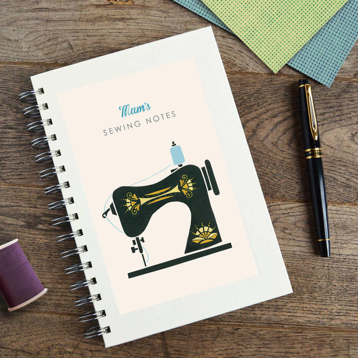 Made by Ellis Personalised Sewing Machine Notebook