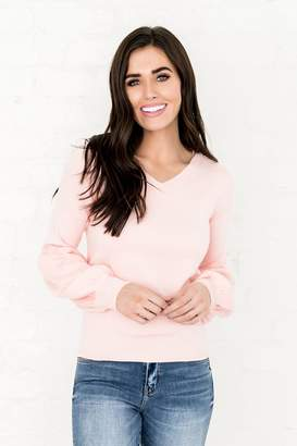 Everyday ShopRachel Parcell Bubble Sweater in Rose