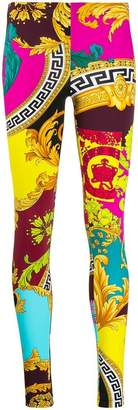 Versace collage print leggings