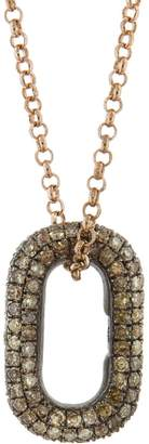 Selim Mouzannar Icy Brown Diamond Link Necklace - Rose Gold