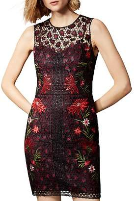Karen Millen Leopard Floral Lace Dress