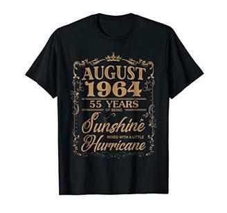 August 1964 55 Years of Being Sunshine Hurricane T-Shirt