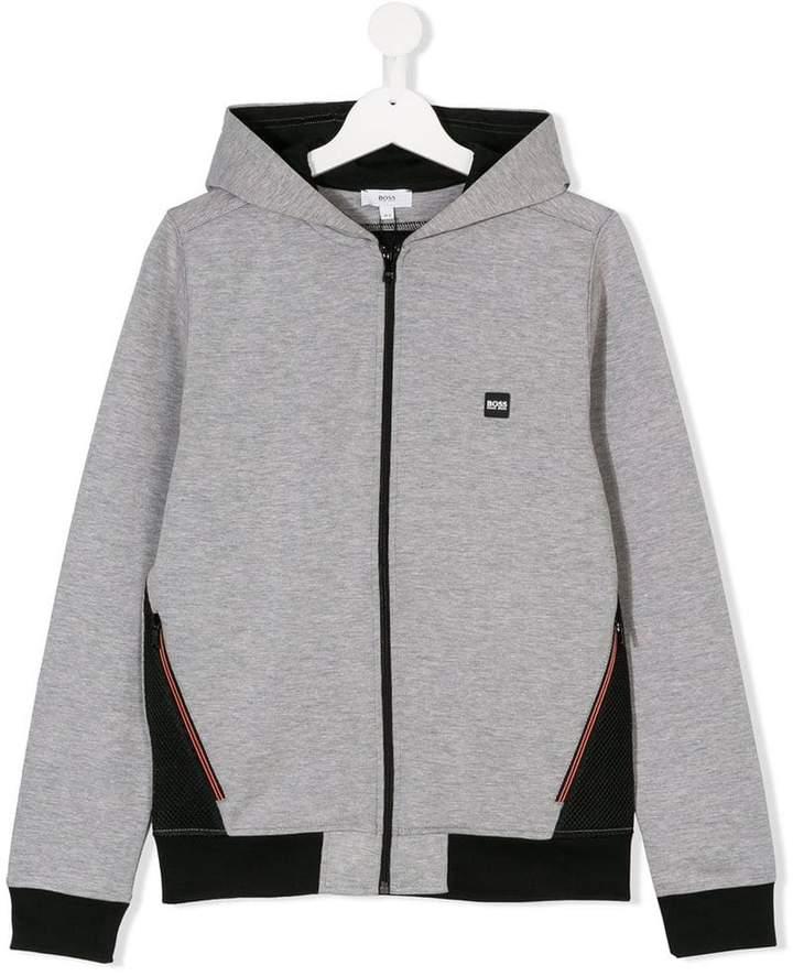 Boss Kids TEEN hooded zipped jacket