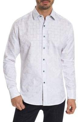 Robert Graham Geometric Casual Button-Down Shirt