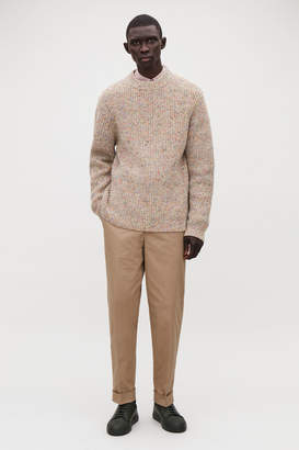 Cos SPECKLED CHUNKY-KNIT JUMPER
