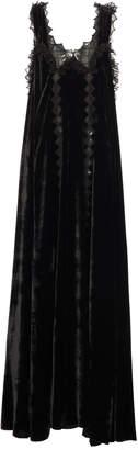 Bottega Veneta Lace Cut-Out Velvet Gown