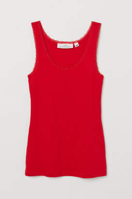 H&M Tank Top with Lace - Red