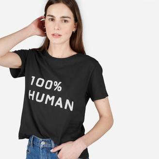 The 100% Human Box-Cut Tee in Medium Print $22 thestylecure.com