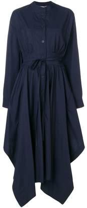 Sportmax asymmetric poplin maxi dress