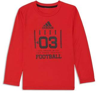 adidas Boys' Long Sleeve Football Graphic Tee - Little Kid