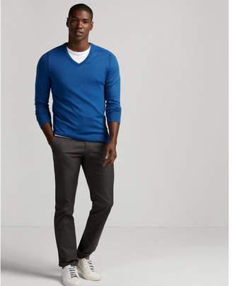 Express merino wool blend thermal regulating v-neck sweater