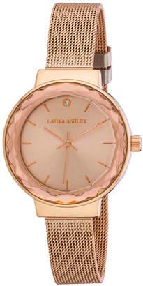 Laura Ashley Womens Strap Watch-La31044rg