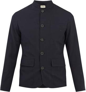 Oliver Spencer Stand-collar seersucker jacket