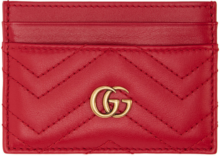 GucciGucci Red GG Marmont Card Holder