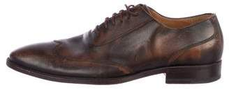 Gucci Leather Wingtip Oxfords