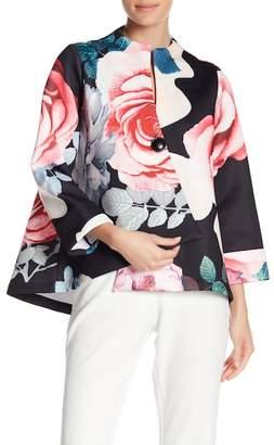 Why Dress Flower Pattern Scuba Fabric Jacket
