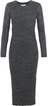 IRO Napinka Mélange Cotton And Modal-Blend Jersey Dress