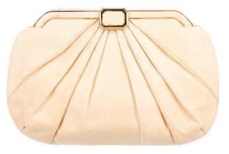 Judith Leiber Embellished Karung Frame Bag