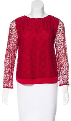 Halston Long Sleeve Textured Top w/ Tags