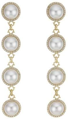Red Herring Oversized Pearl Drop Earrings