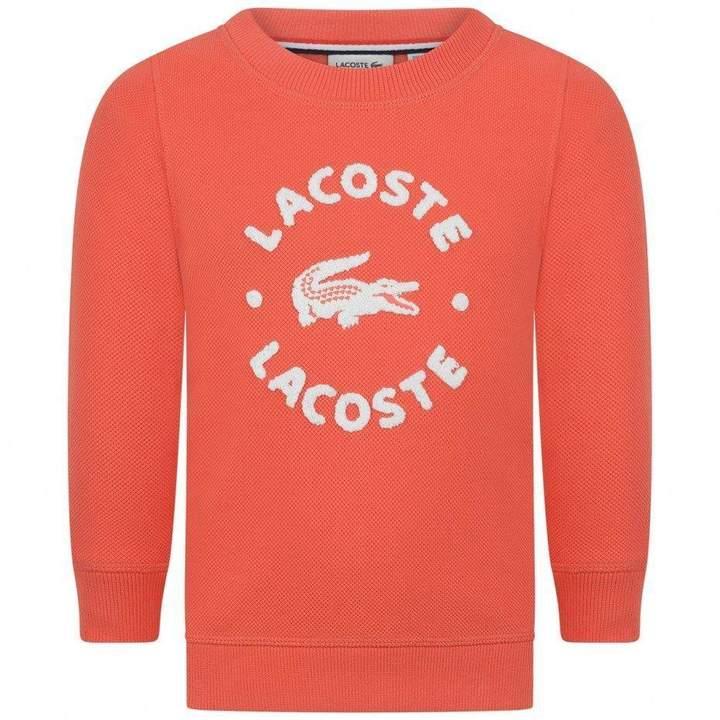LacosteBoys Orange Logo Sweater