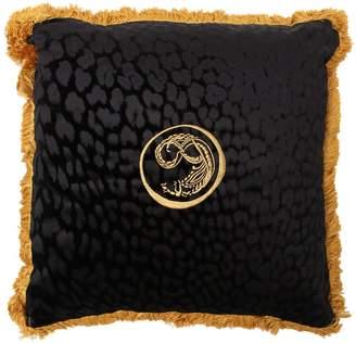 Roberto Cavalli Large Sigillo Velvet Accent Pillow