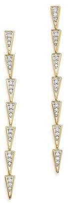 Adina 14K Yellow Gold & Pavé Diamond Triangle Link Drop Earrings