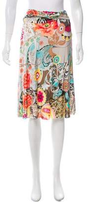 Blumarine Printed Knee-Length Skirt