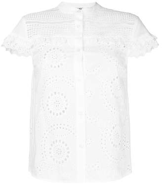 Liu Jo open embroidery short sleeve shirt