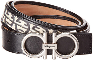 Salvatore Ferragamo Gancini Adjustable Leather Belt