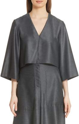 Tibi Bell Sleeve Drape Top