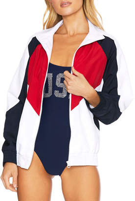 Beach Riot Riot Logo Colorblock Jacket