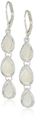Nine West Women's Silver-Tone and Linear Drop Earrings