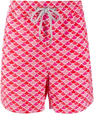 Love Brand fish scale print swim shorts
