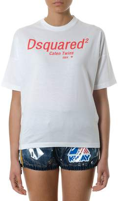 DSQUARED2 White Caten Twins Cotton T-shirt