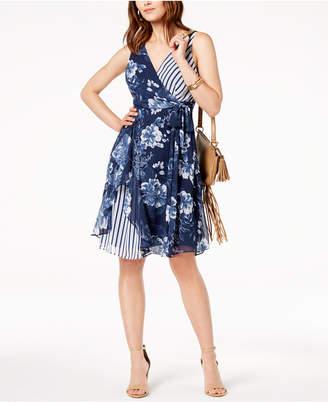 INC International Concepts I.n.c. Ruffled Mixed-Print Dress, Created for Macy's