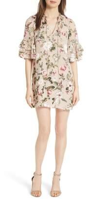 Alice + Olivia Julius Tiered Sleeve Tunic Dress