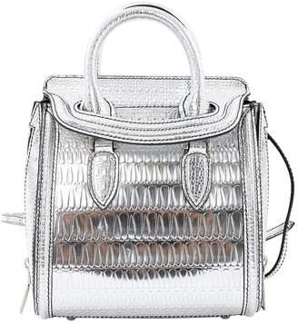 Alexander McQueen Silver Patent leather Handbag