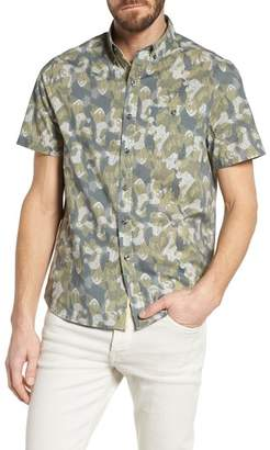Michael Bastian Paisley Print Short Sleeve Sport Shirt