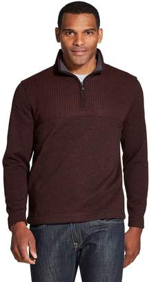 Van Heusen Big & Tall Flex Quarter-Zip Fleece Pullover