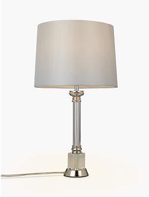 202eaa093dec John Lewis & Partners Clayton Glass Lamp Base, Clear, H33cm
