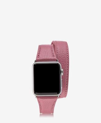 GiGi New York 38mm Double Wrap Apple Watch Band, Azure Pebble Grain