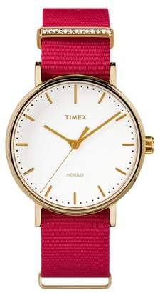 Timex R) Fairfield Nylon Strap Watch, 37mm