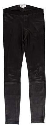 Helmut Lang Low-Rise Leather Leggings