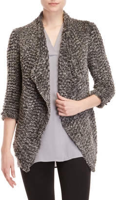 DOLCE CABO Faux Fur Open Cardigan