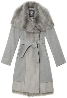 Vince Camuto Faux Fur-trim Coat