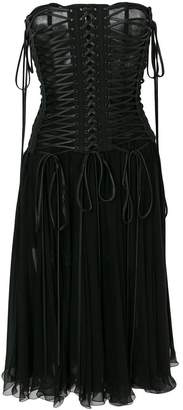 Dolce & Gabbana lace-up strapless dress
