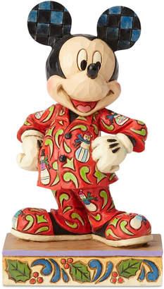 Jim Shore Mickey in Christmas Pajamas Figurine