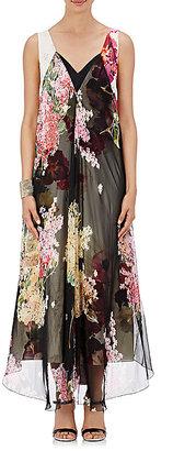 Lanvin Women's Chiffon-Overlay Maxi Dress $5,885 thestylecure.com