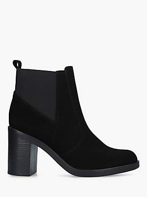 Kurt Geiger London Sicily High Heel Ankle Boots, Black Suede